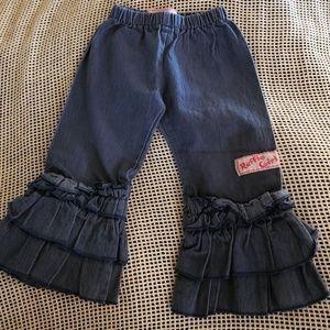 Ruffle girl ruffled pants size 2